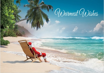 Tropical holiday cards tropical christmas greeting online m4hsunfo